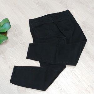 J. Crew Sateen Toothpick Super Skinny black pant